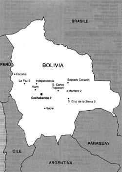 cartina della bolivia
